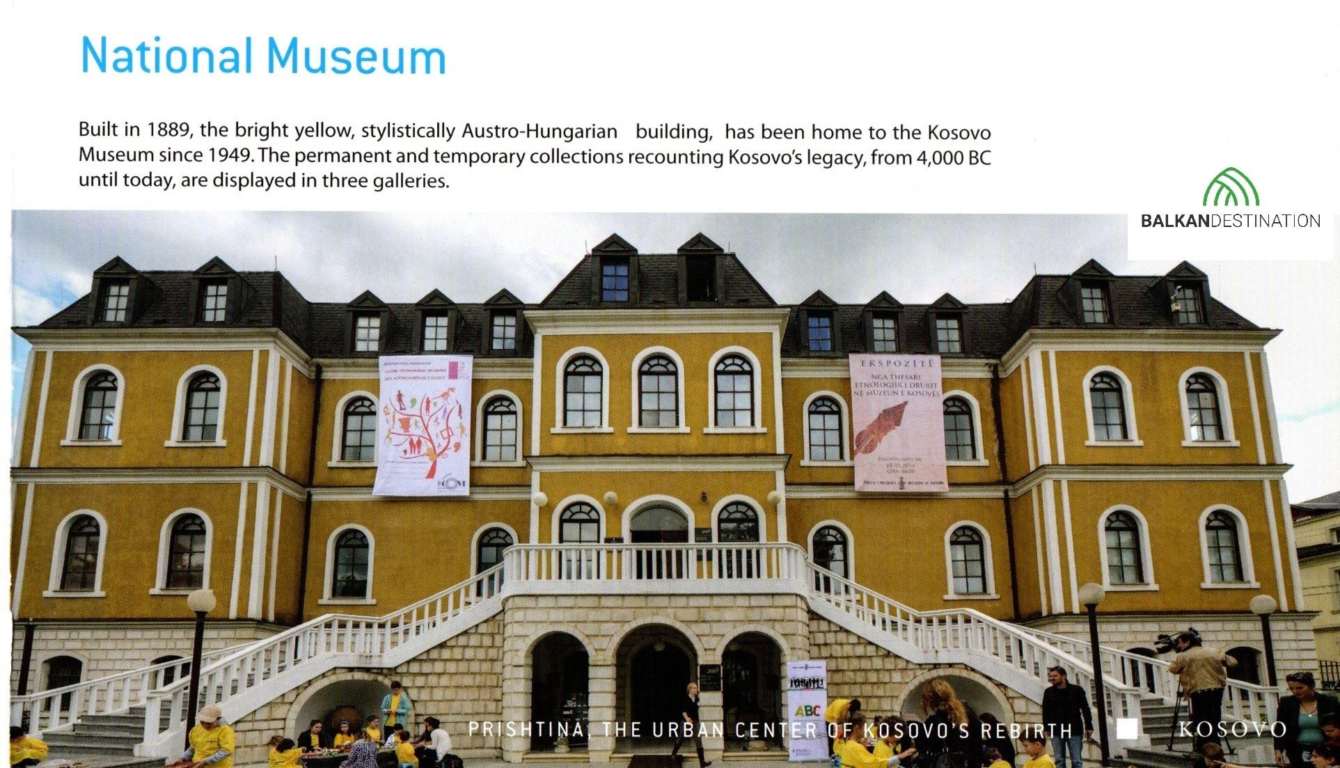 balkandestination nationalmuseum pristina kosovo