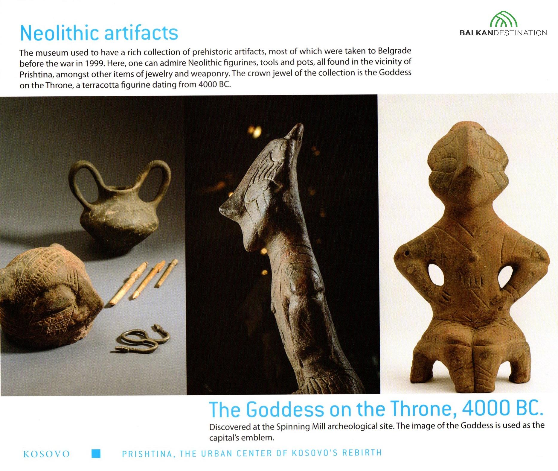 balkandestination neolithic artifacts pristina kosovo