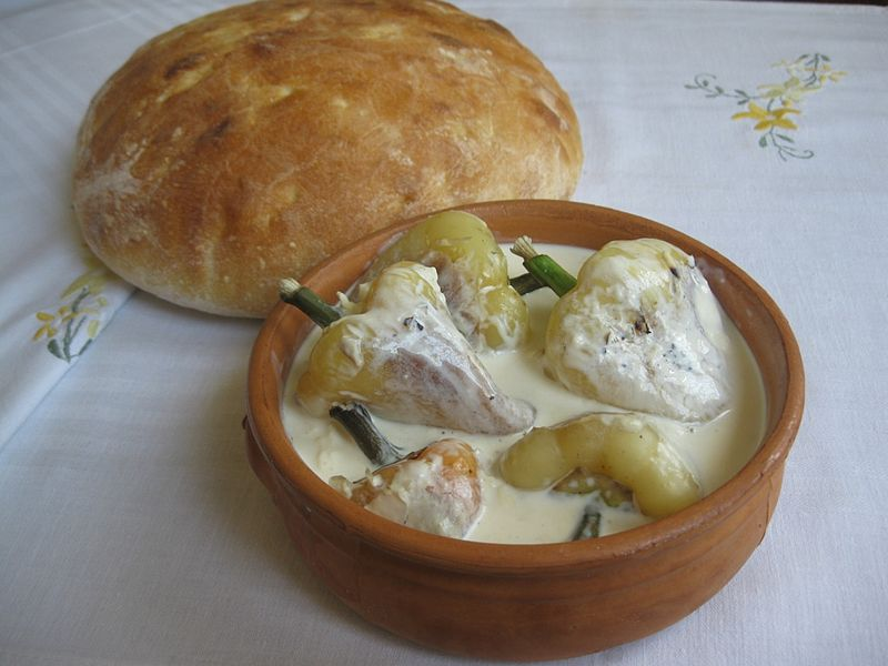 peppers with double cream kosovo balkandestination