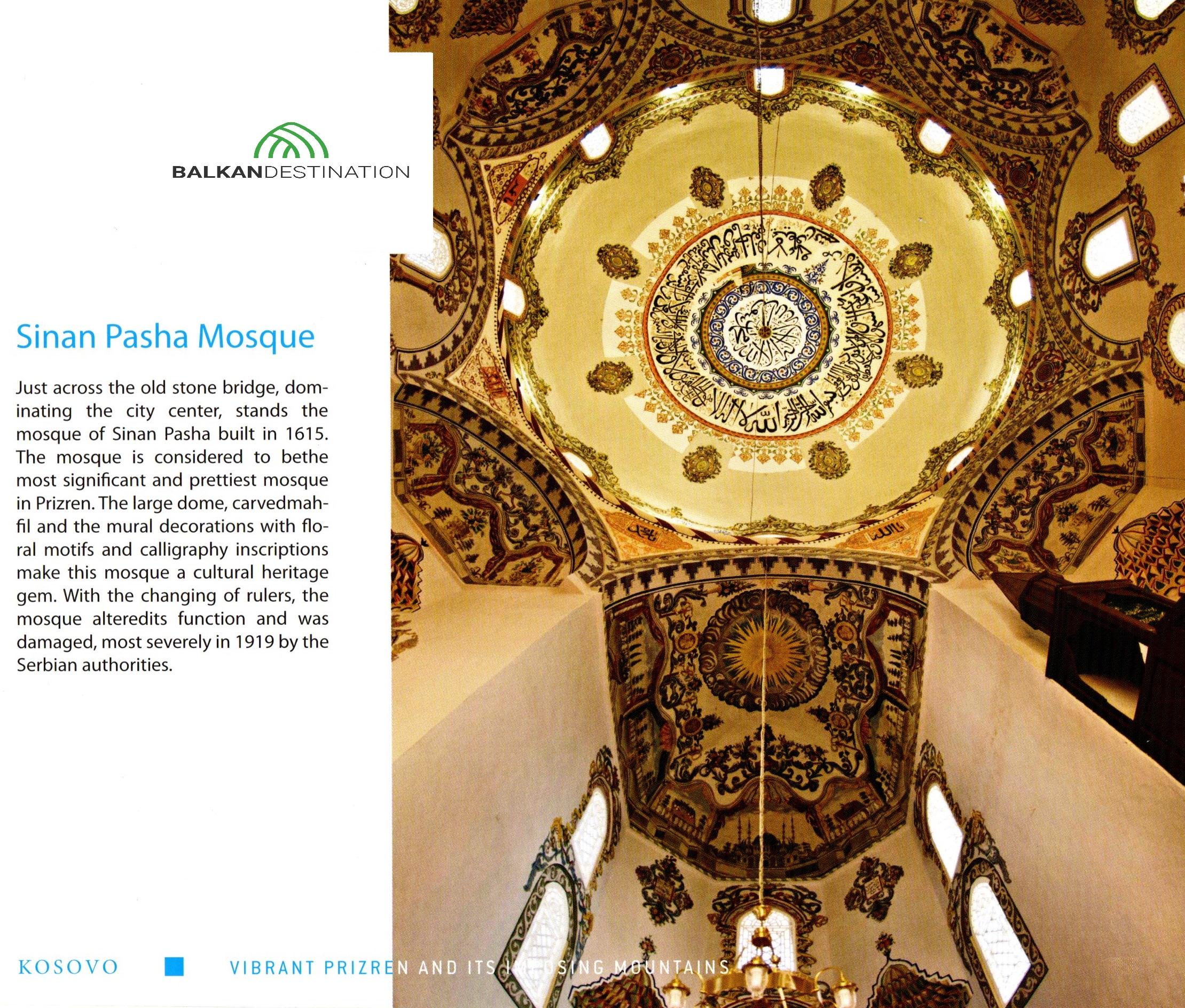 sinanpasha mosque prizren kosovo balkandestination